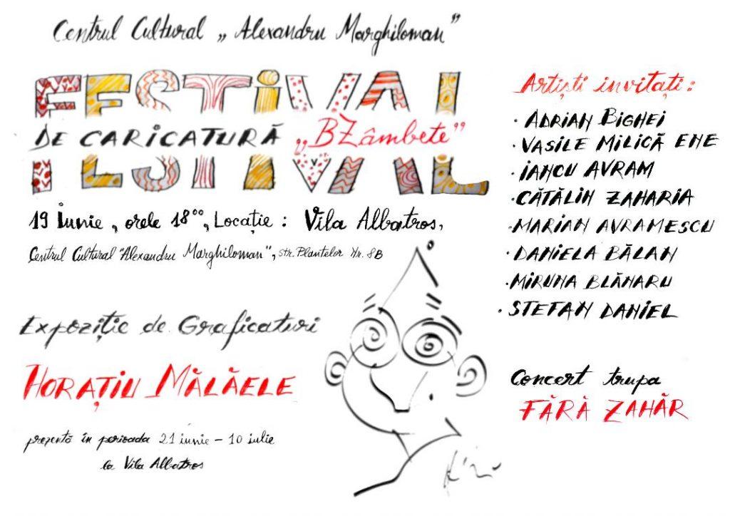 """Invitație de nerefuzat: caricaturi la minut, la Vila Albatros. Artiști din mai multe orașe ajung la Buzău pentru prima ediție a Festivalului de Caricatură """"BZâmbete"""""""